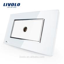 Производитель Livolo США Стандартное гнездо Кристаллическое стекло TV данные электрическая розетка Wall Outlet VL-C391V-81