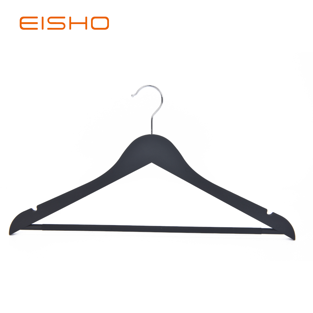Whosale Eisho Solid Wood Coat Wooden Hanger For Garment