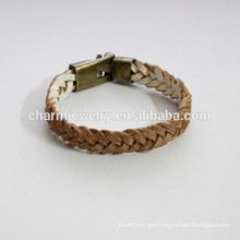 Pulsera hecha a mano del cuero de la manera como la pulsera del cambio del color de la pulsera de la trenza PSL025