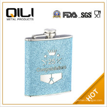 6oz screen print stainless steel hip flask orchids flask seedling for sale