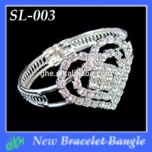 Yiwu Wholesale New Fashion bangle, Rhinestone Mini heart-shaped Bracelet