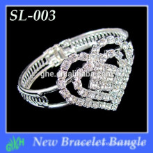 Yiwu Wholesale New Fashion bracelete, Rhinestone Mini pulseira em forma de coração