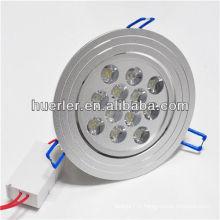 Shenzhen a conduit l'éclairage fabricant 100-240v 12w boîtier de downlight avec CE et RoHS