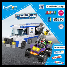 Special Offer!Educational kid gift building block plastic police car