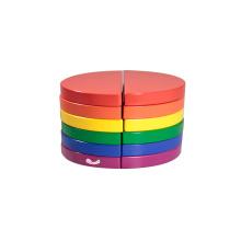 Wooden Building Blocks In 6 Colors Circle Blocks