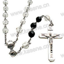 Wholesale 6mm White Crystal Beads Religious Rosary Necklace