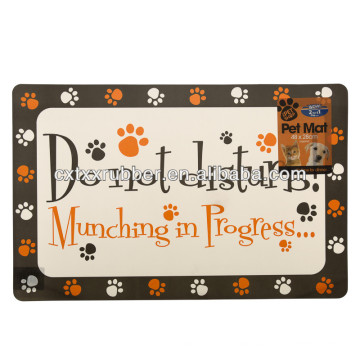 rubber printed dog placemats