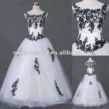 Applique Tüll mit Kurzarm Brautkleid