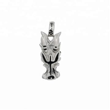 Pendente-182 xupingPunk estilo de jóias em aço inoxidável preto arma cor lobo cabeça pingente
