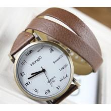 Длинный Кожаный Ремешок Часы