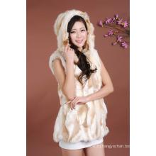 Женщины рукавов меховой жилет / новый 2016 зимой жилет женщин меха жилет