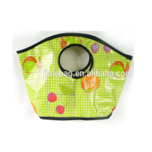 2014 punched hole handle pp woven bag for shopping