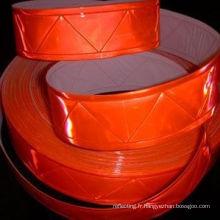W Pattern Orange bande réfléchissante pour vêtements et vêtements de gilet