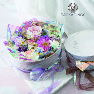 High end cardboard round flower box wholesale