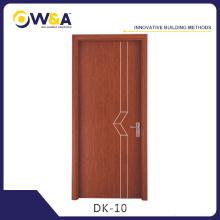 Portes de peinture d'intérieur WPC imperméables et respectueuses de l'environnement pour salle de bain à la chambre