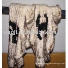 cape en fourrure de vison tricotée