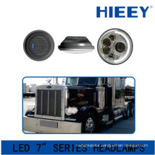 IP67 led headlight for big truck DOT Approval led headlight 12/24V led round 7 inch headlamp for trucks