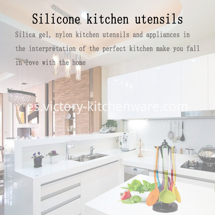slicone kitchen tool set