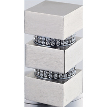Square Metal Curtain Finial with Crystal