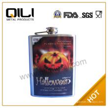 Frasco de la cadera de FDA de 8 oz promoción con creador de calabaza de Halloween