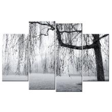 Черное и белое дерево Печать / холст / холст / холст Печать