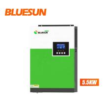 Bluesun 5.5 KW 48V hybrid inverter with mppt off grid solar system for residential use
