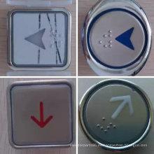 Pulsador botón redondo/cuadrado del elevador, ascensor de acero inoxidable