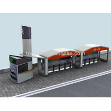 Logement de transport en commun à vélo TCP-3 avec kiosque