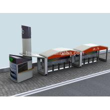 Abrigo de trânsito de bicicleta automática TCP-3 com quiosque