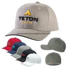 Gorras ajustadas deporte poliéster / algodón personalizado