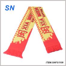 Bufanda de encargo al por mayor barata del fútbol de la bufanda de la fan de la bufanda del fútbol de la alta calidad