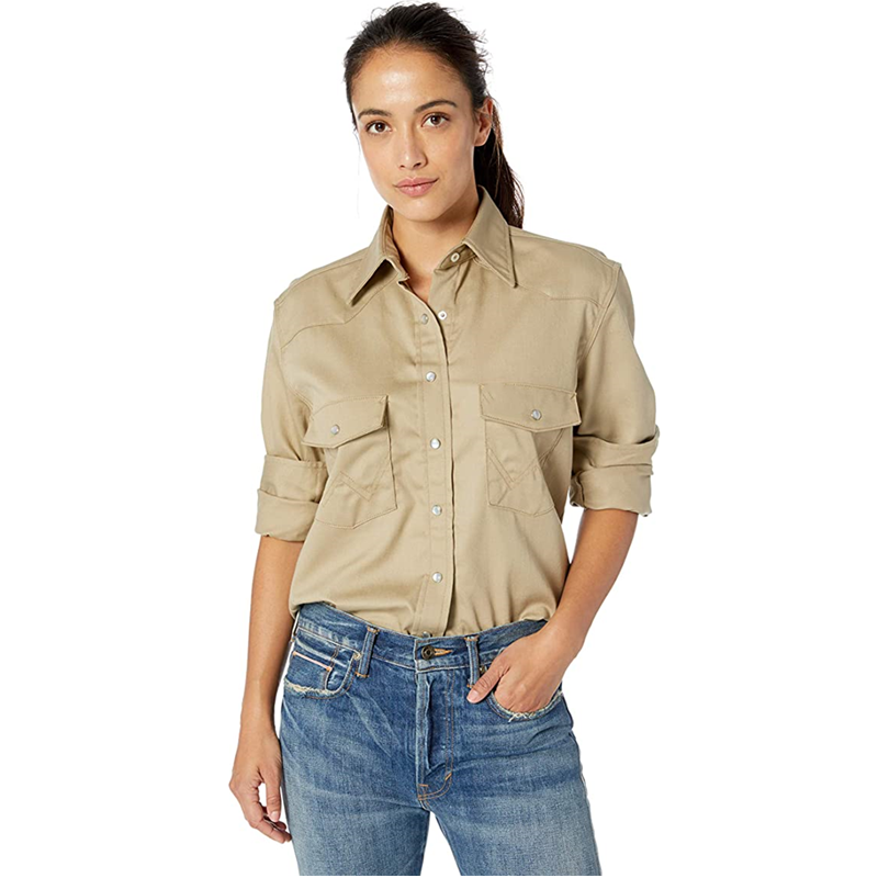 Women S Fr Western Long Sleeve Snap Workshirt1