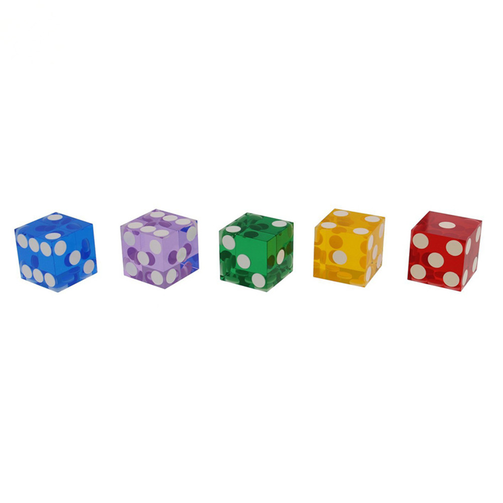 Colored Acrylic Casino Dice With Razor Edges