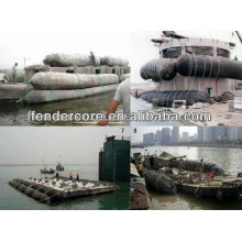 marine salvage airbags for refloating a sunken or grounded vessel