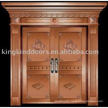 luxury copper door villa door exterior door double door KK-719