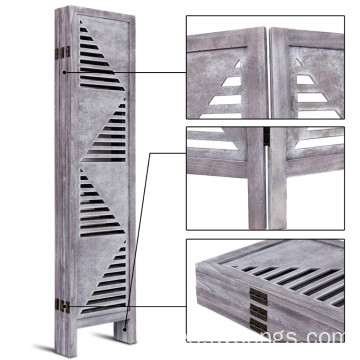 Wooden Foldable Panel Partition Wall Divider