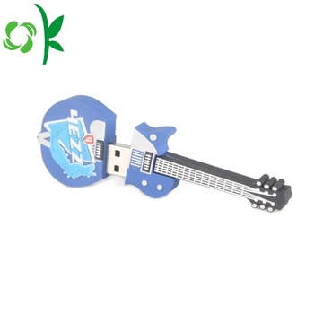 3D Gitaar Custom Silicone USB Flash Drive Cover