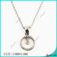 Кристаллы круг металл ожерелье (Пн)