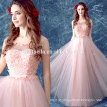 OEM Factory Dubai Designers Pink Floral Prom Vestidos de noite Formal Christmas Homecoming Sweet Girl Dress