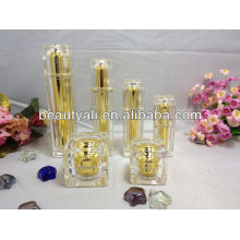 square cosmetic acrylic lotion bottle