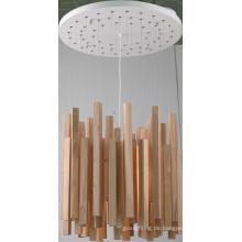 Gummi Holz + Metall Decke Pendelleuchte (MX80150-1-620)