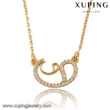 41820 Xuping fashion women necklace jewelry, high end fashion jewelry necklace wholesale