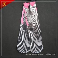 Horse Print Socks Pink and Black Printing Design