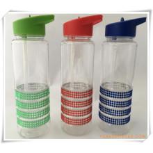 Botella de agua Straw Cup para regalos promocionales (HA09036)
