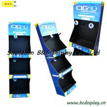 Cremalheira de exposiço dos ganchos do carto, suporte de exposiço de papel gancho simples, exposiço de assoalho do carto (B & C-B038)