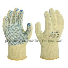 Перчатки термостойкие работы с ПВХ-точками (K6102)