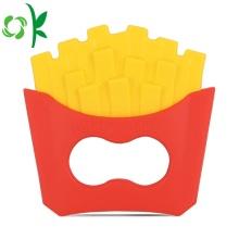 Imitação Snacks Baby Toys Silicone Batata Chips Mordedor
