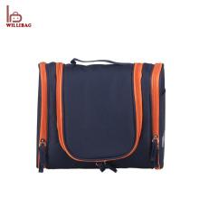 Bolso de viaje de encargo del bolso cosmético negro ligero del peso