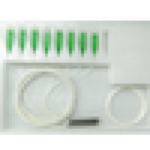 SC / APC mini aço tipo fibra óptica PLC splitter com cabo de fibra equipamentos