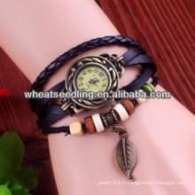 Bracelets en cuir pour enveloppes en velours style vintage pour dames